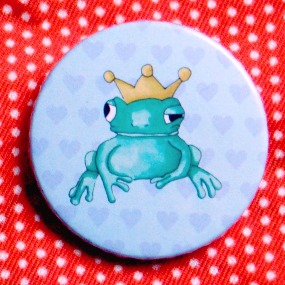 Button Verliebter Froschkönig