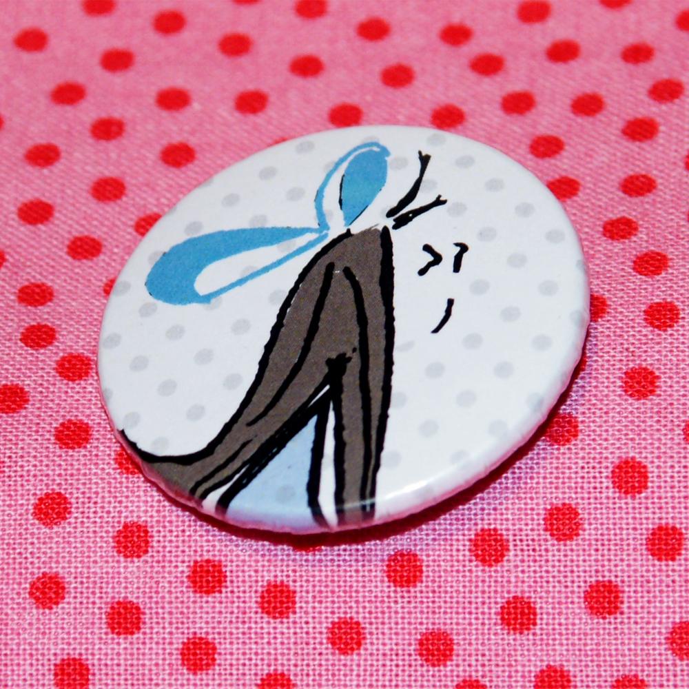 Button Der Kuss - Frau