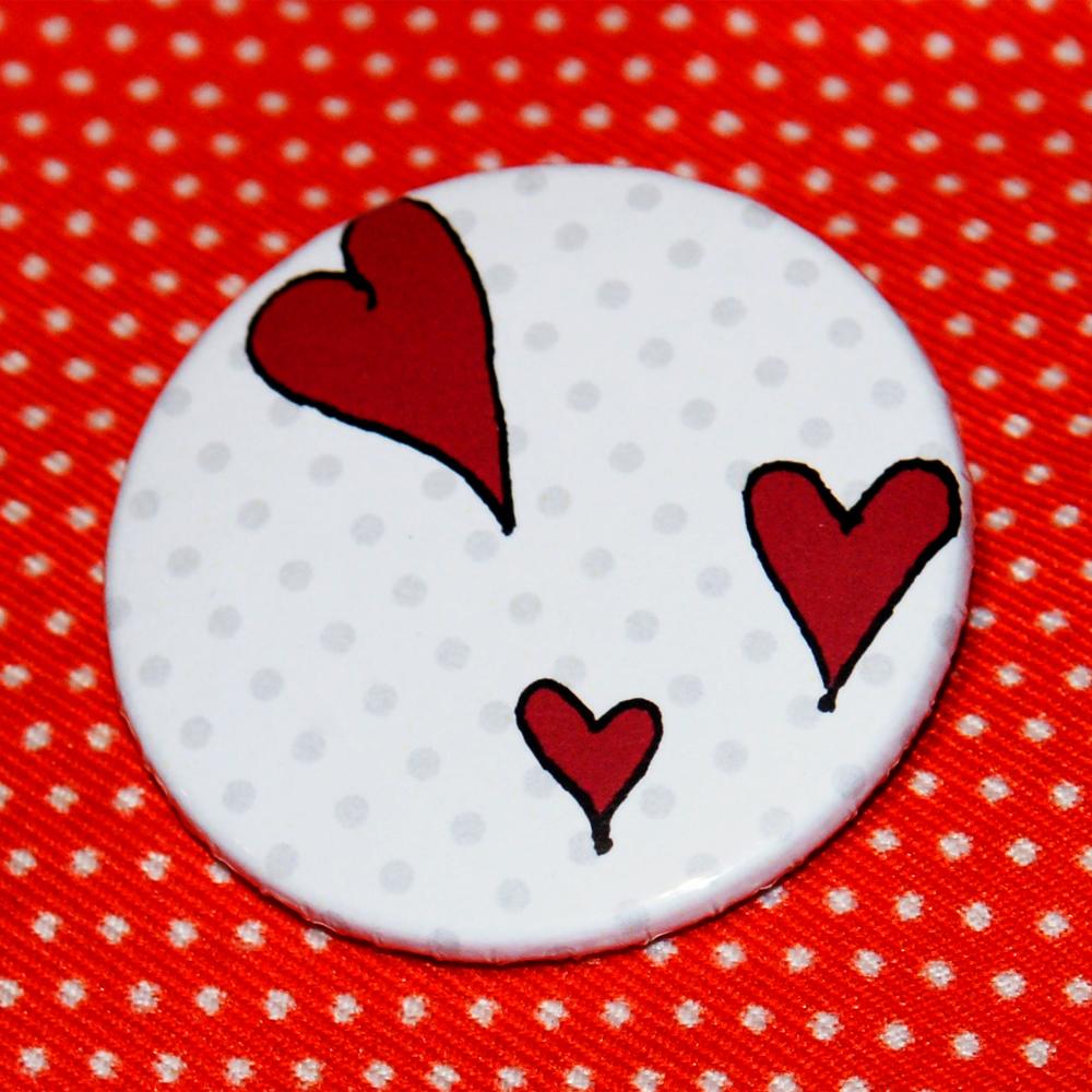 Button Der Kuss - Herz