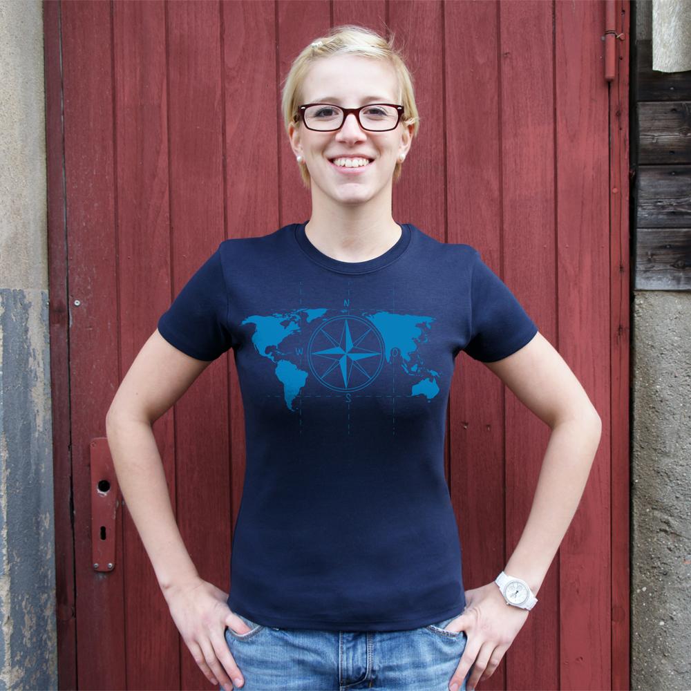Frauen T-Shirt Kompass