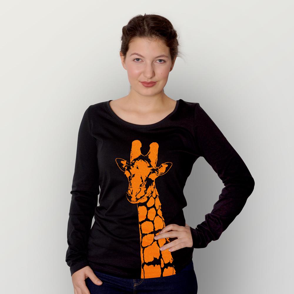 Frauen Longsleeve Stefanie la Girafe