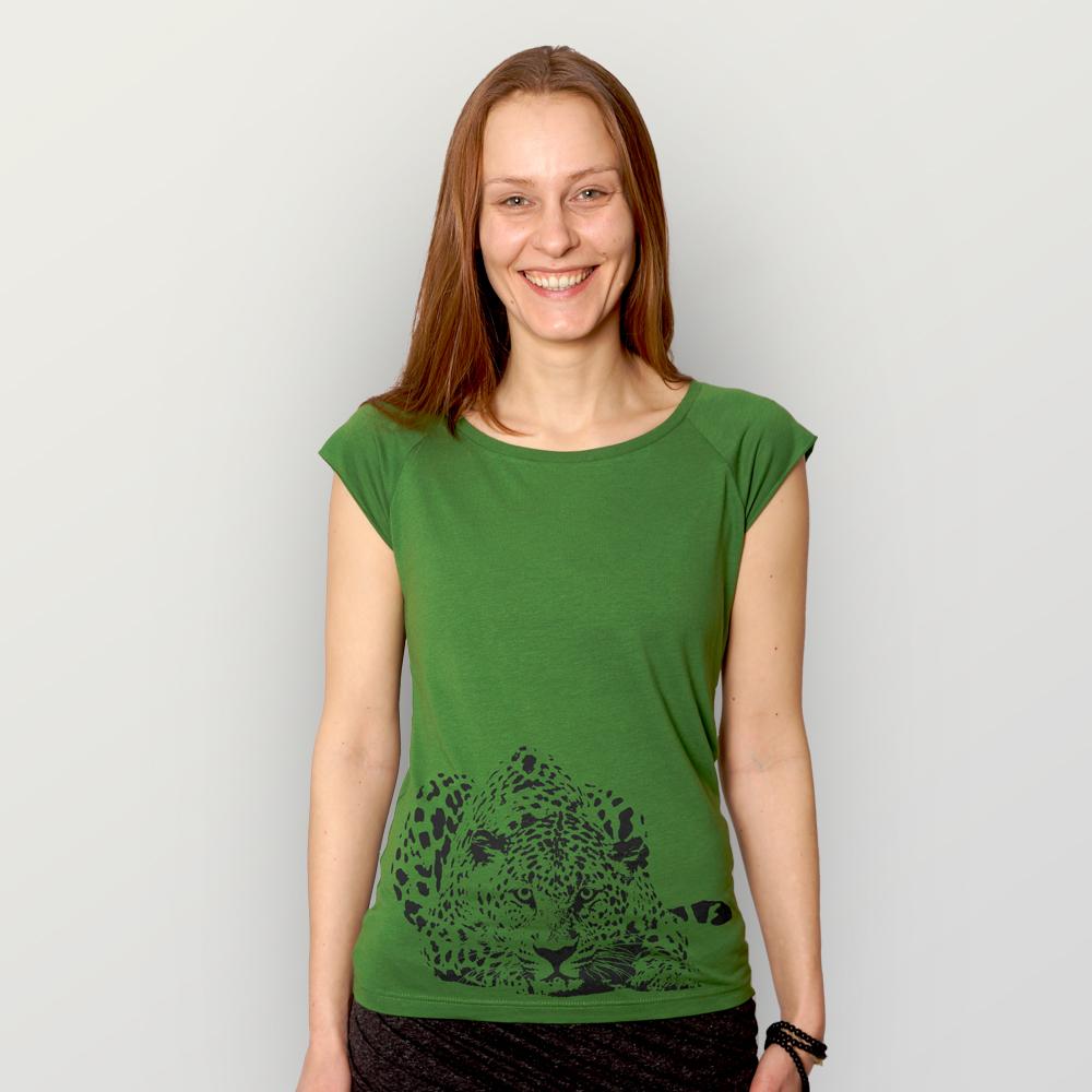 Frauen T-Shirt Leopard