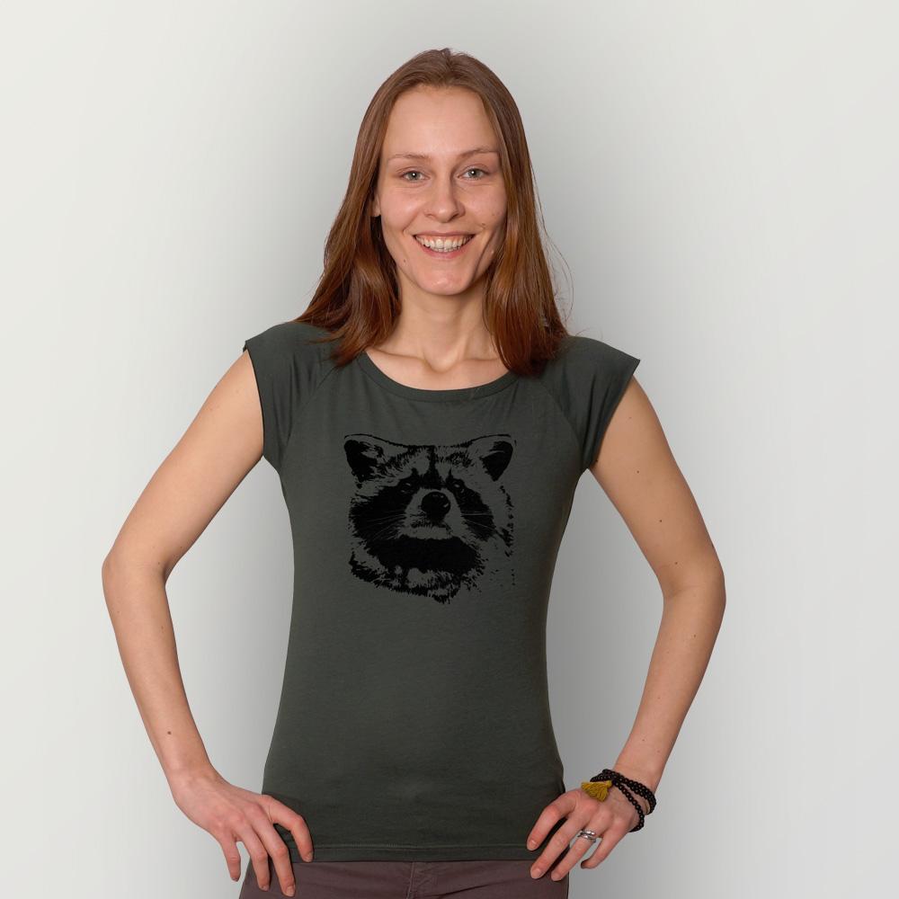 Frauen T-Shirt Waschbär