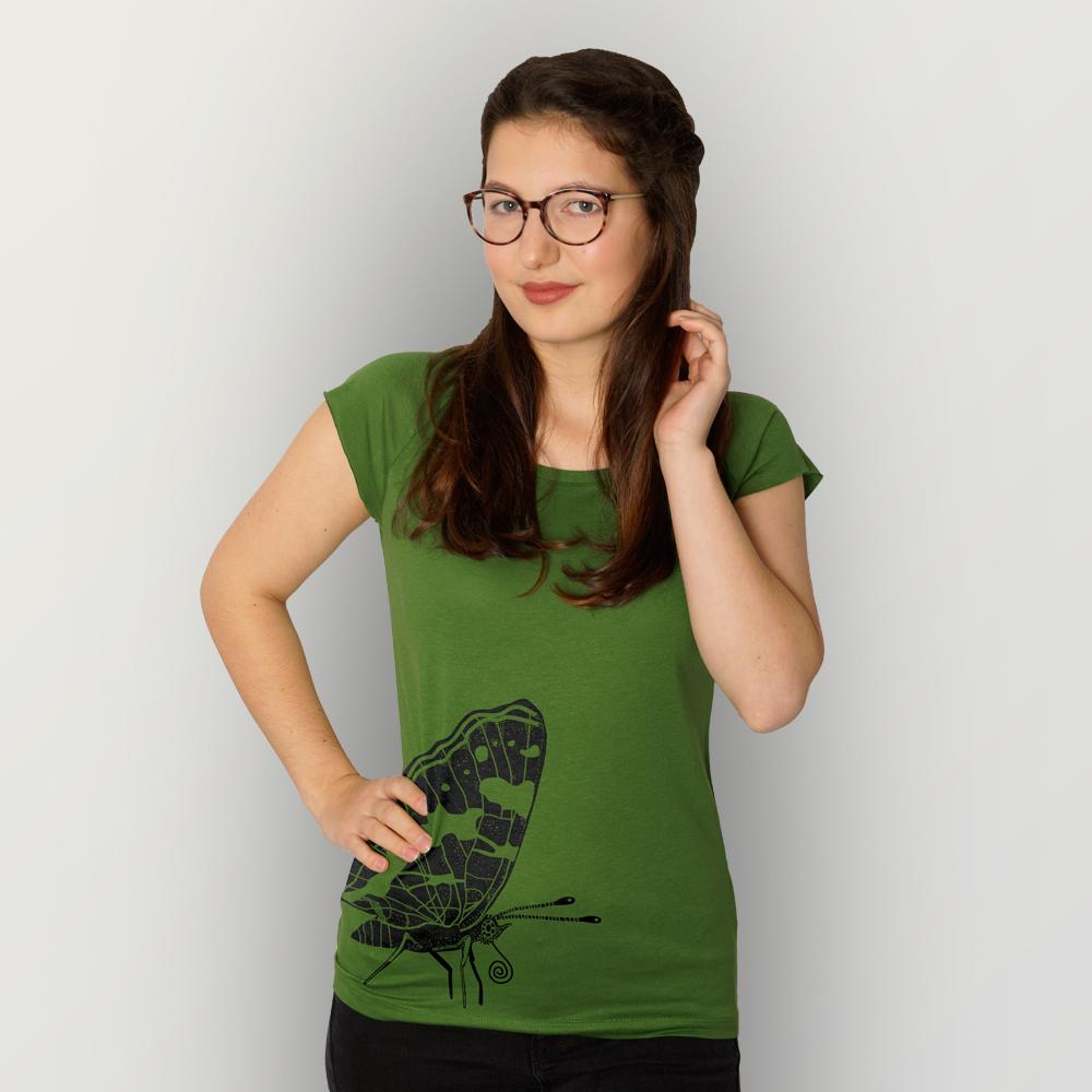 Frauen T-Shirt Landkärtchen