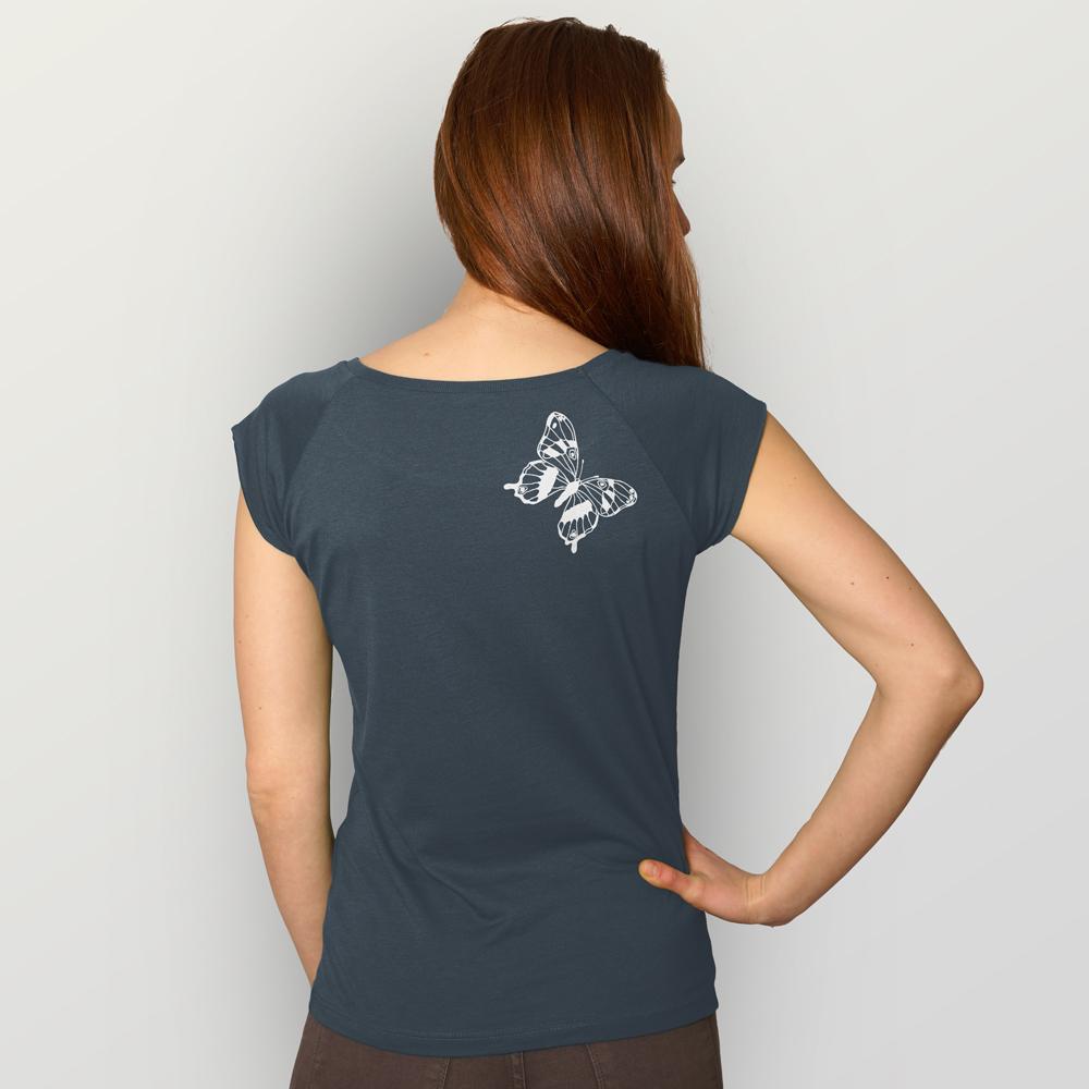 Frauen T-Shirt Tagpfauenauge 01