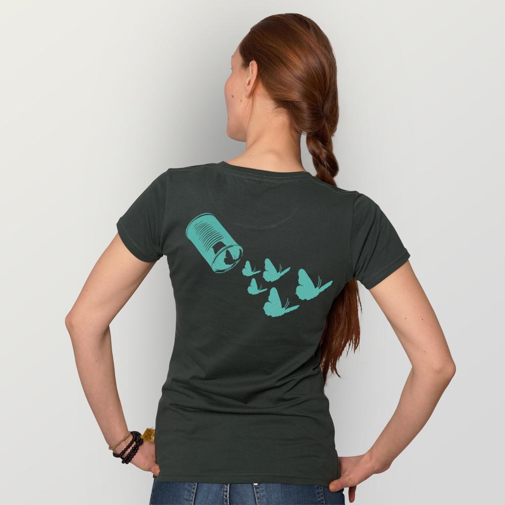 Frauen T-Shirt Butterfly01