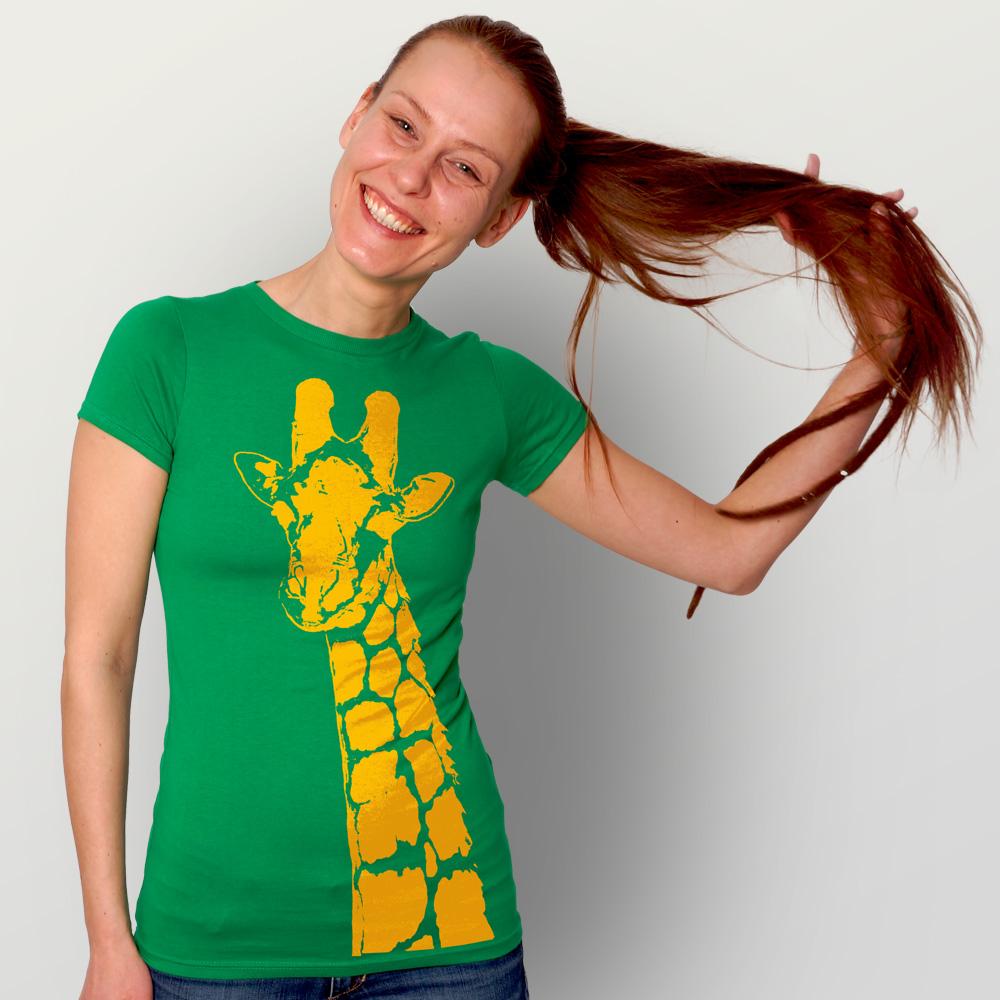 Frauen T-Shirt Stefanie la Girafe