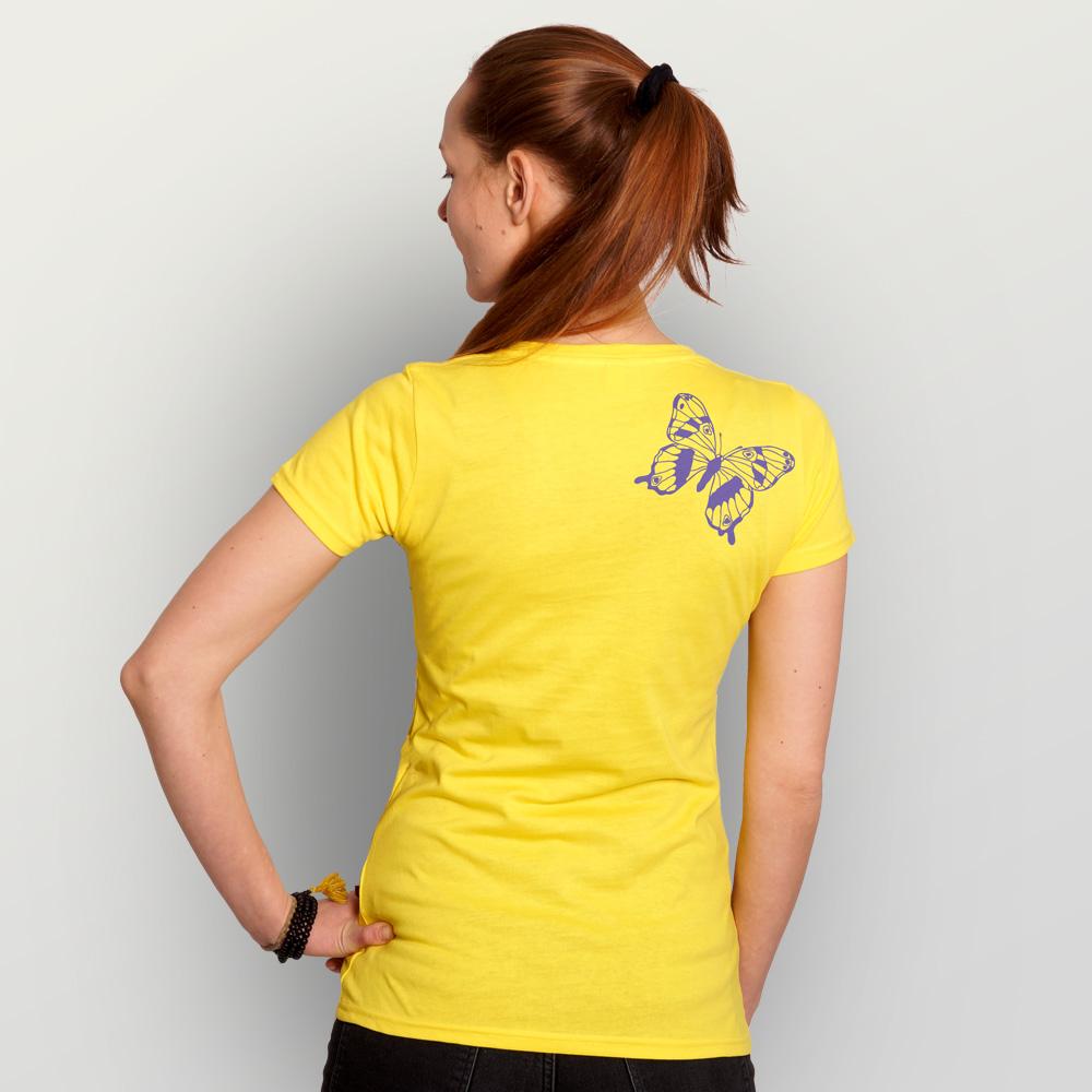 Frauen T-Shirt Tagpfauenauge01