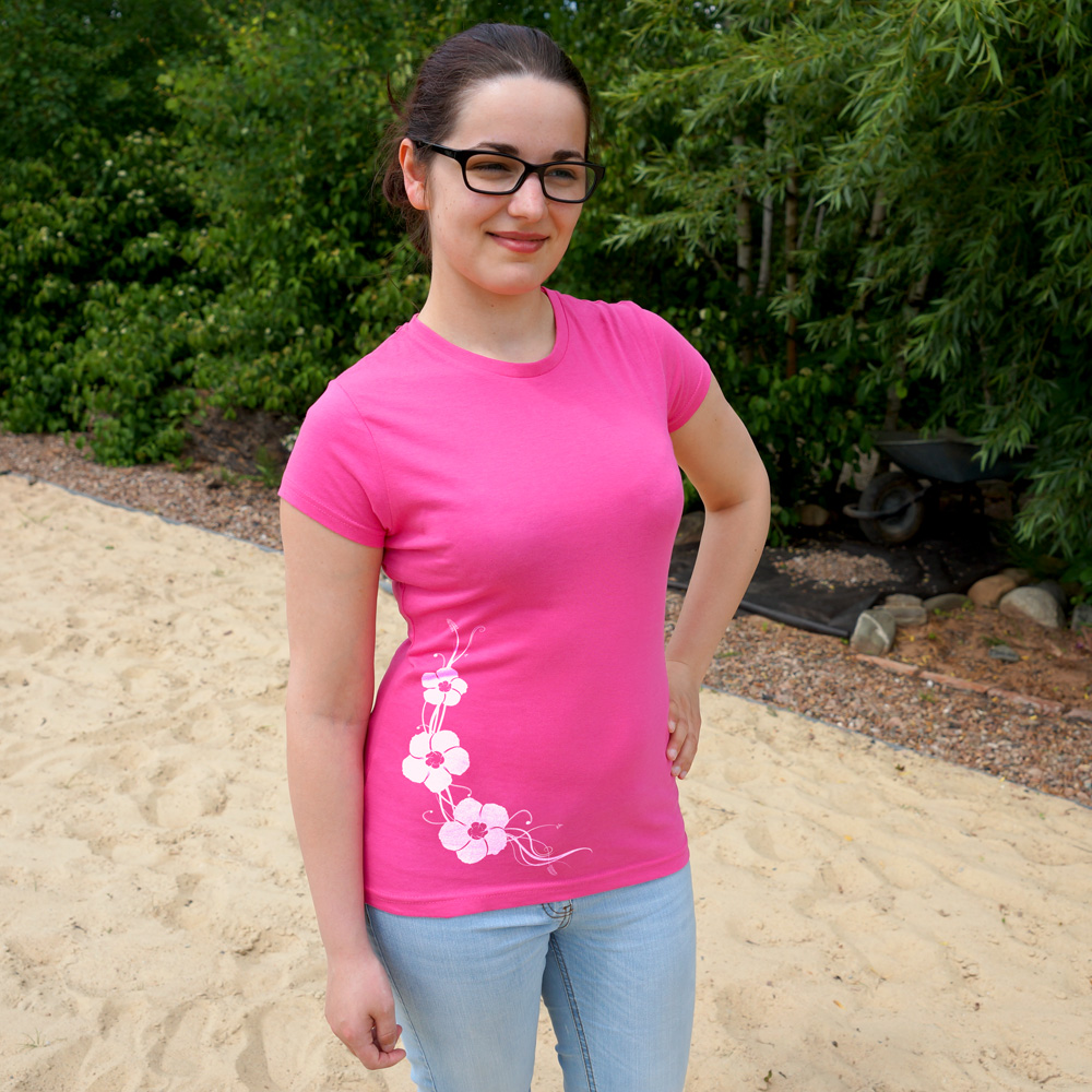Frauen T-Shirt Hibisken
