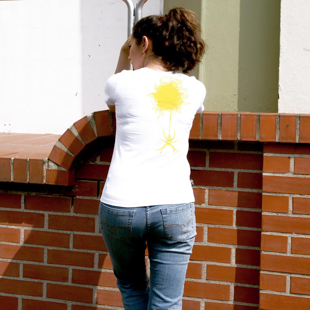 Frauen T-Shirt Spinne und ihr Netz