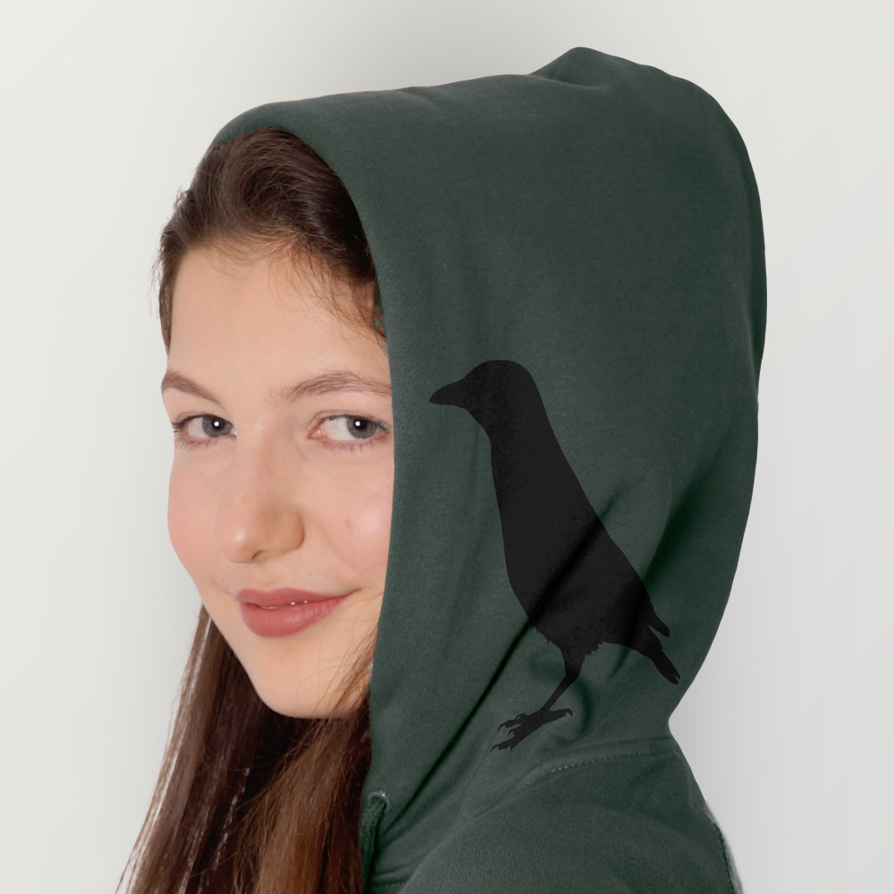 Frauen Zip-Hoody Rabenflüsterer