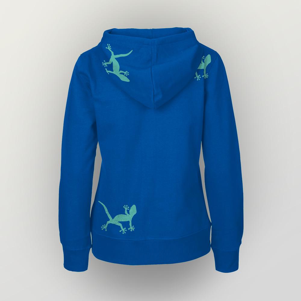 Frauen Zip-Hoody Geckos