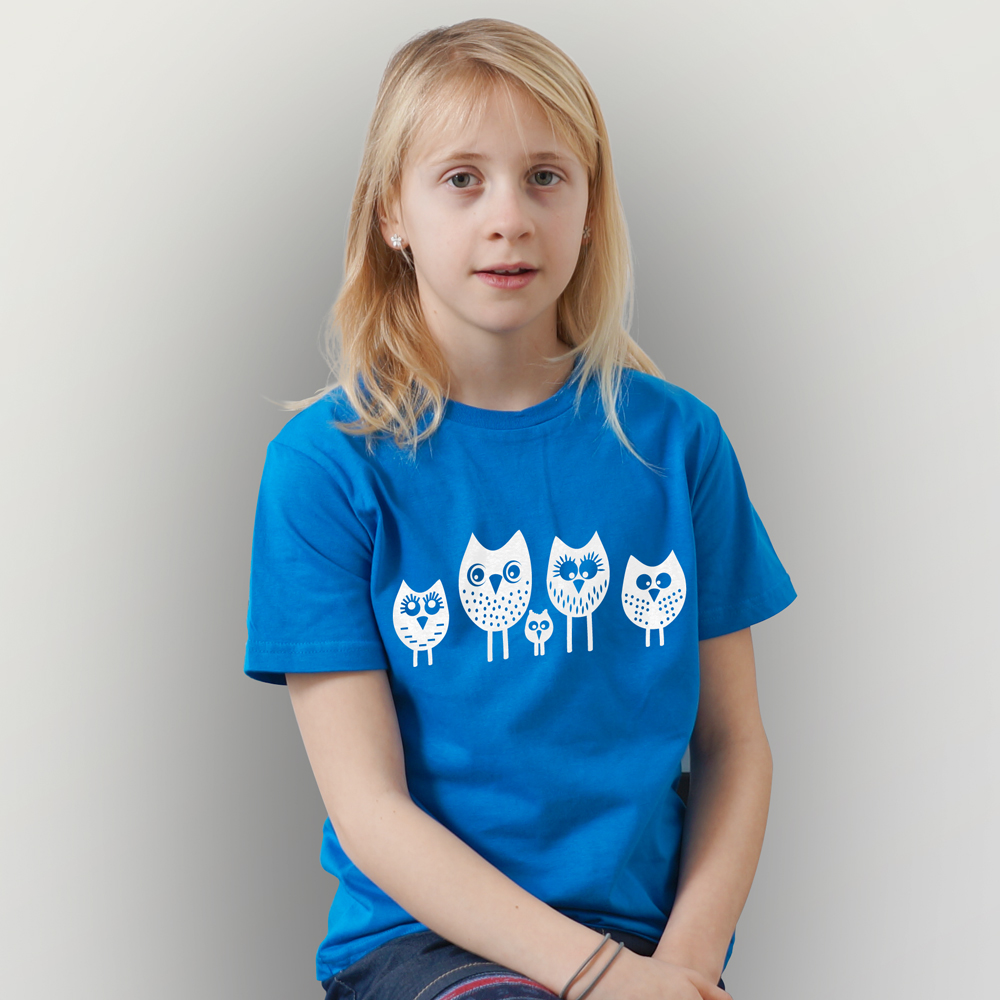 Kinder T-Shirt 5 kleine Eulen