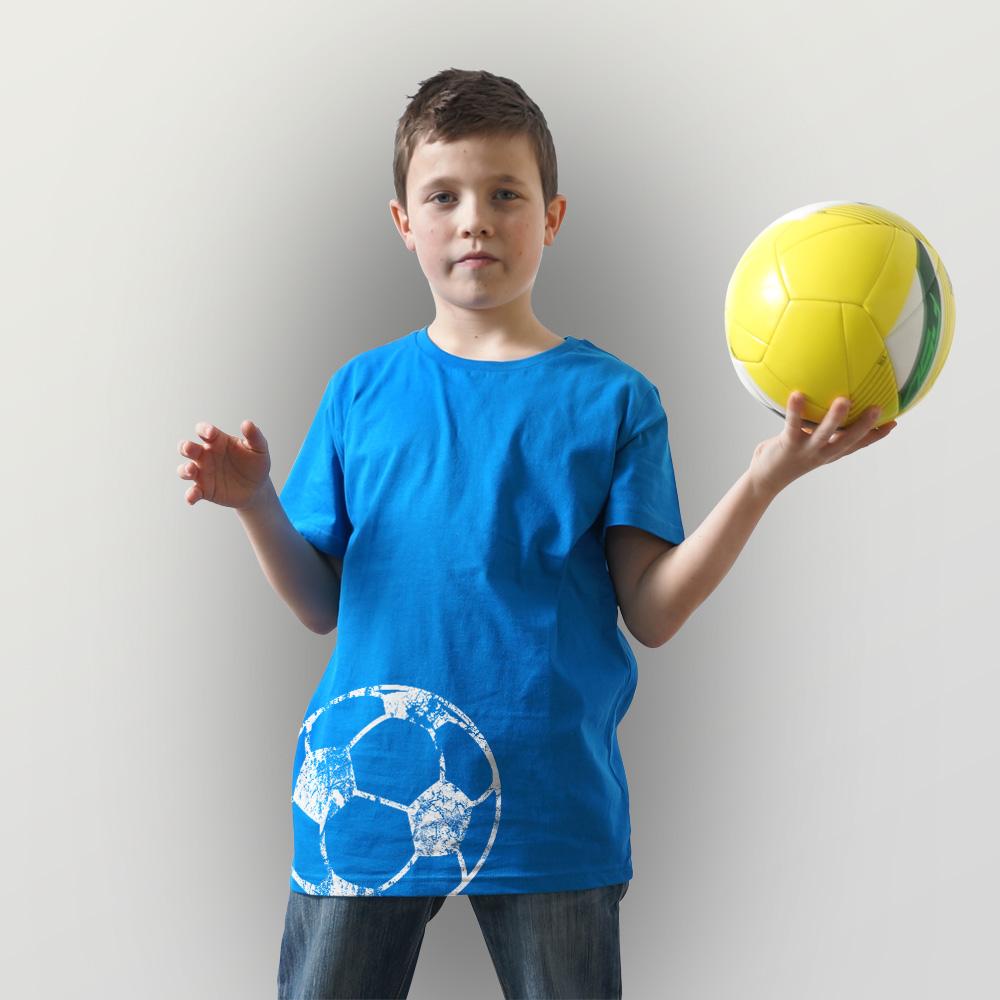Kinder T-Shirt Fußball
