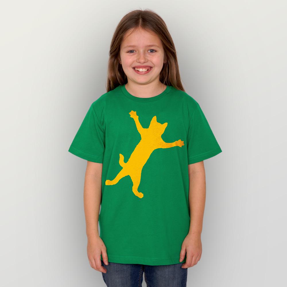Kinder T-Shirt Klammerkatze