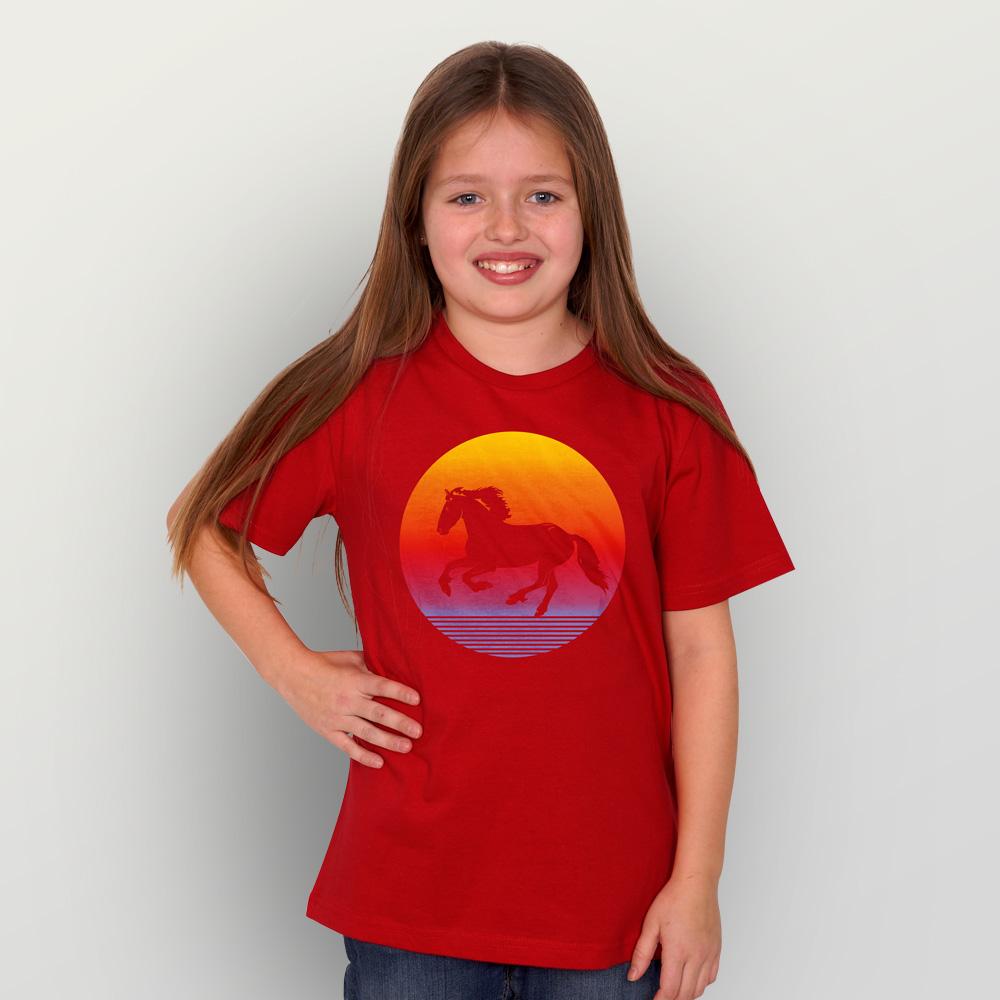 Kinder T-Shirt Sunsethorse