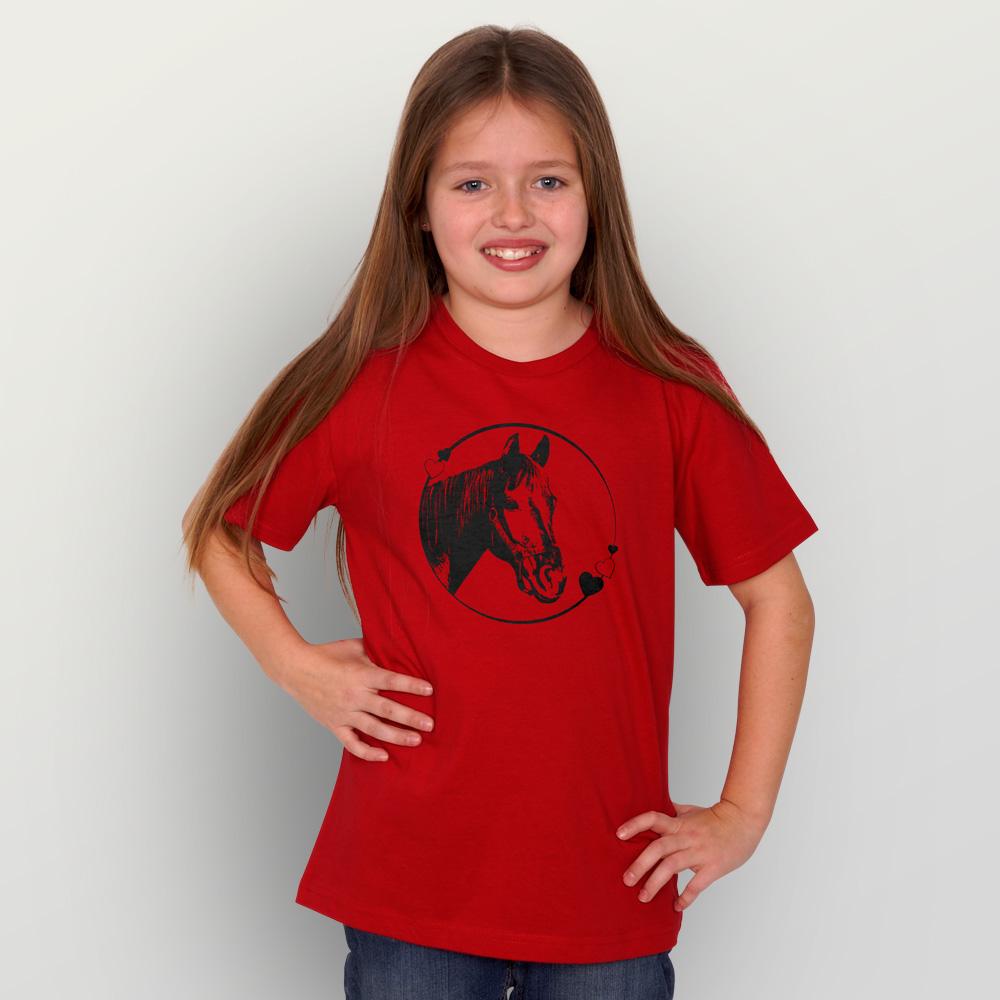 Kinder T-Shirt Pferdeliebe