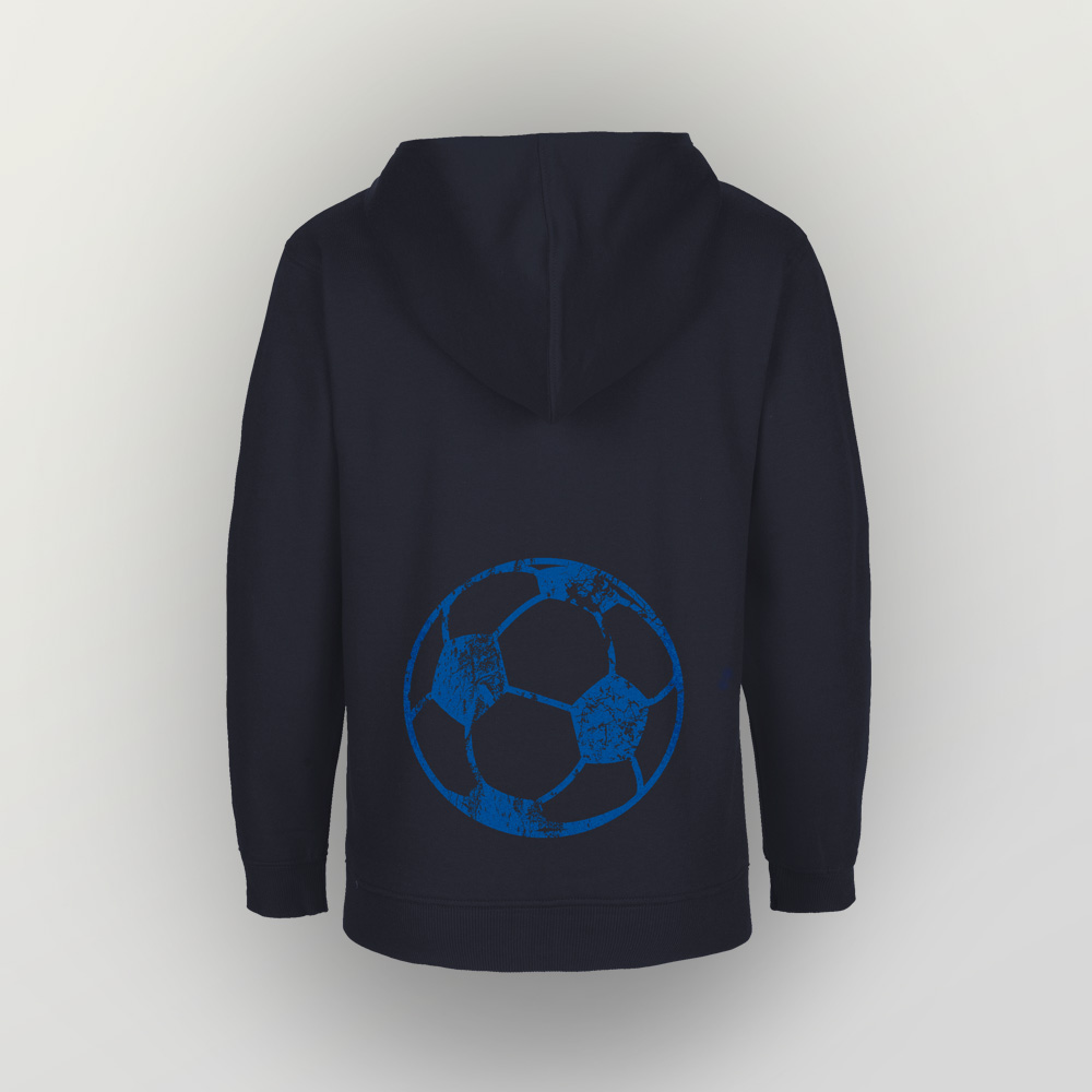 Kinder Zip Hoody Fußball