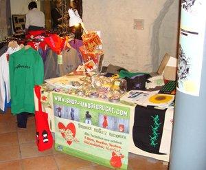 shop-handgedruckt Stand beim localcolors Kunsthandwerkermarkt
