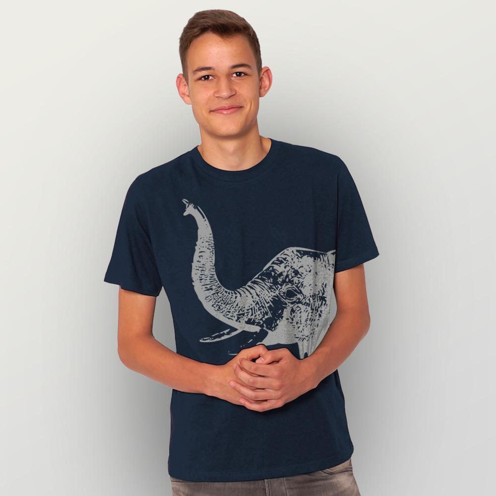 Männer T-Shirt Elefant Wolfgang