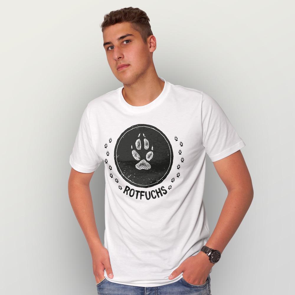 Männer T-Shirt Rotfuchs (Trittsiegel)