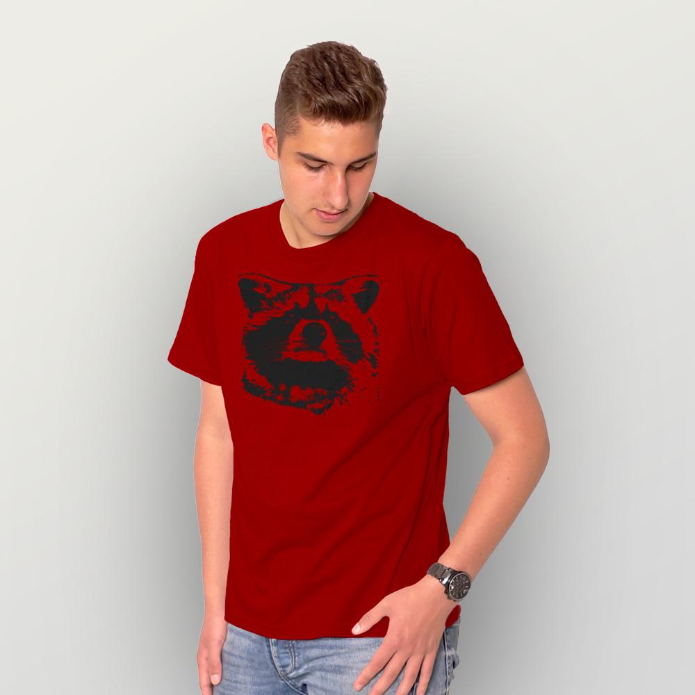 Männer T-Shirt Waschbär