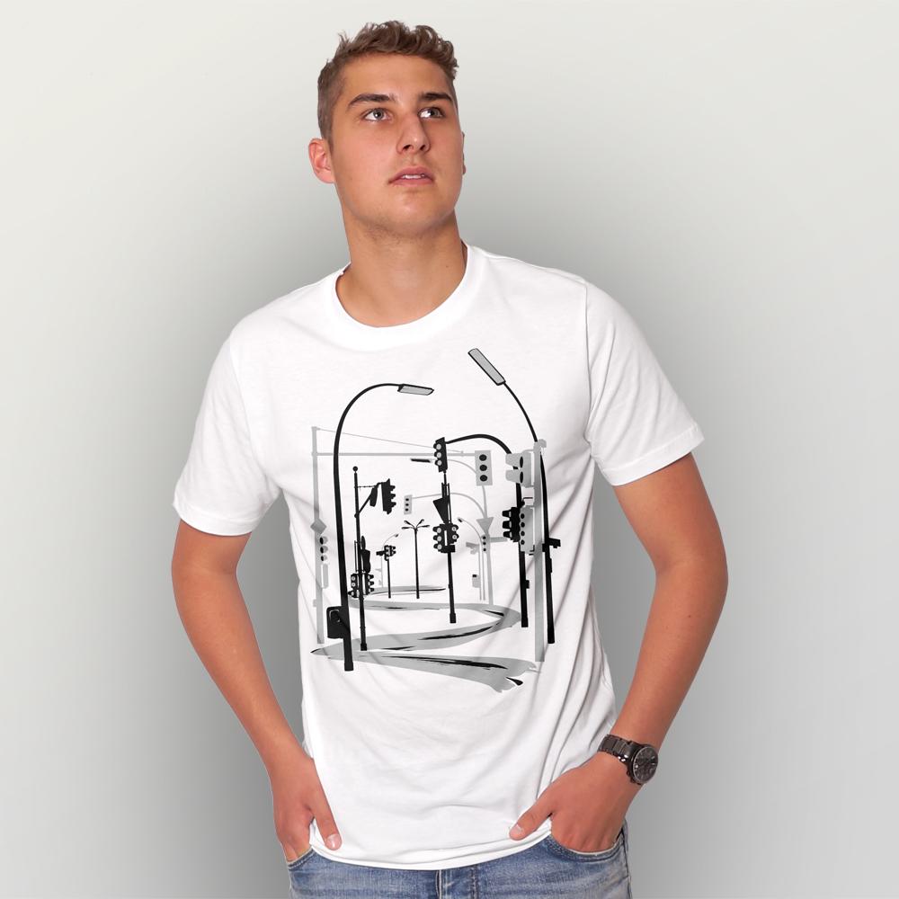 Männer T-Shirt Traffic Collapse