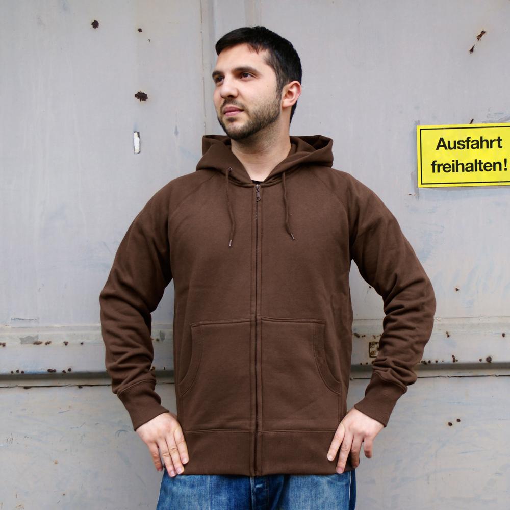 Männer Zip-Hoody Unbedruckt