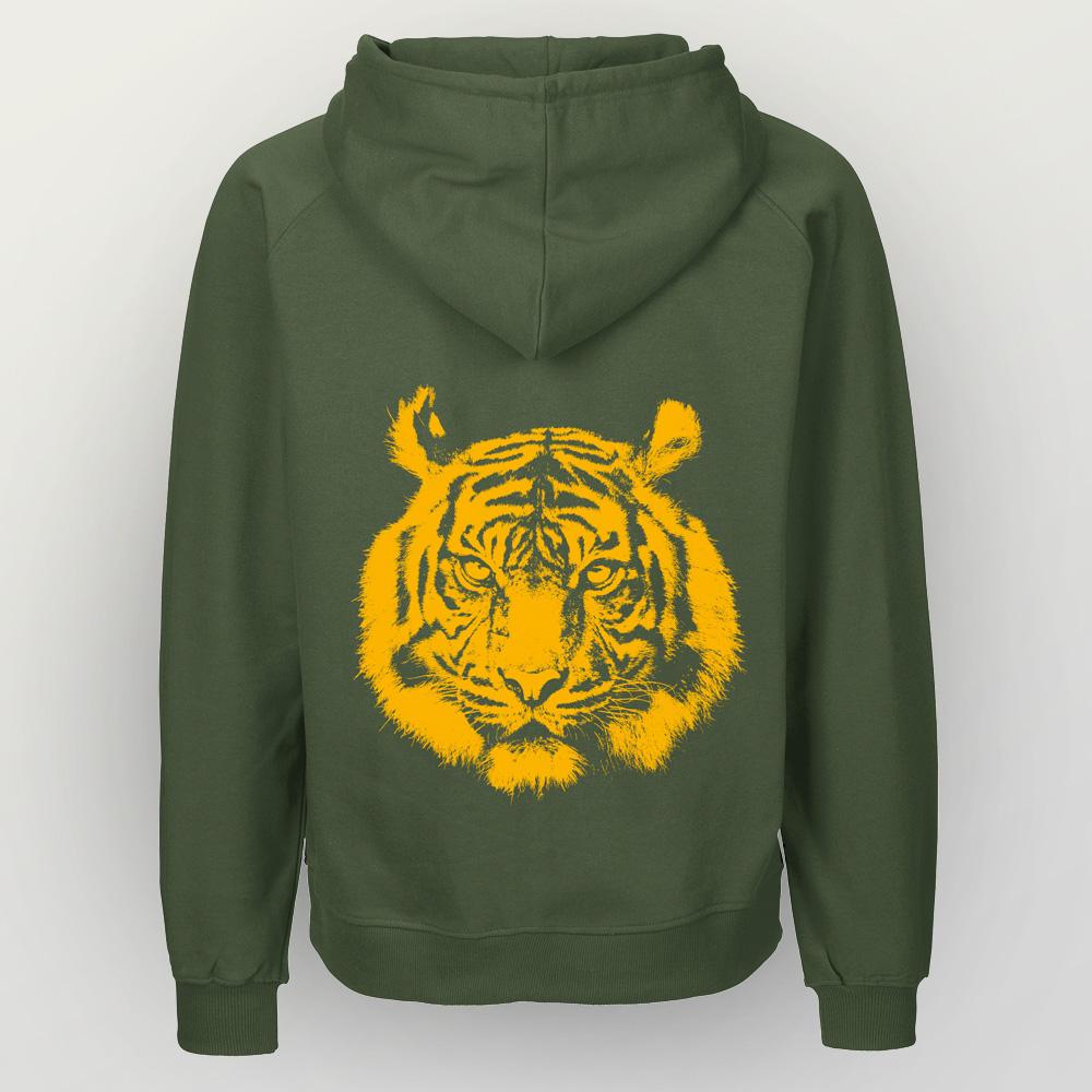 Männer Zip-Hoody Tiger