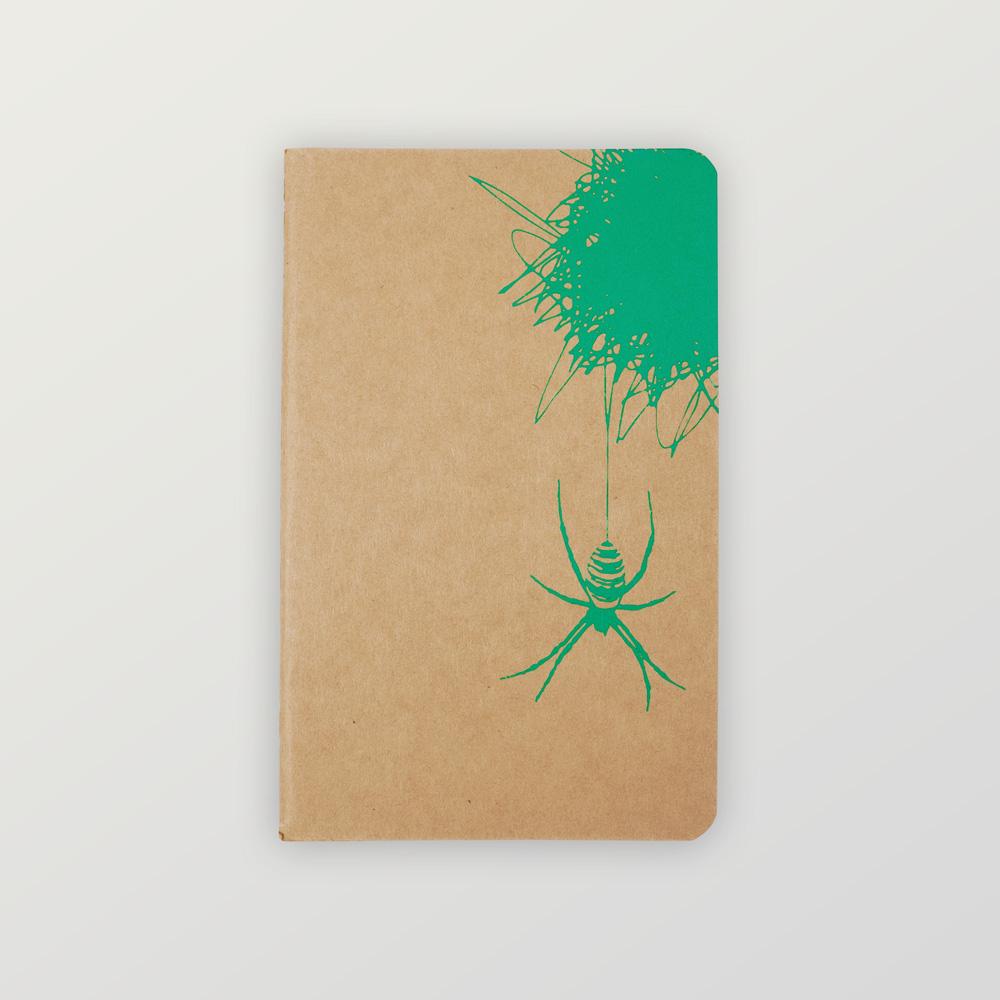 Notizheft Spinne und ihr Netz