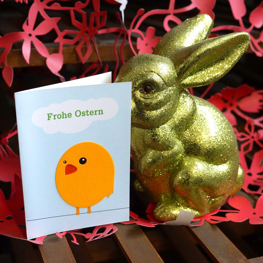 Osterkarte Flockküken