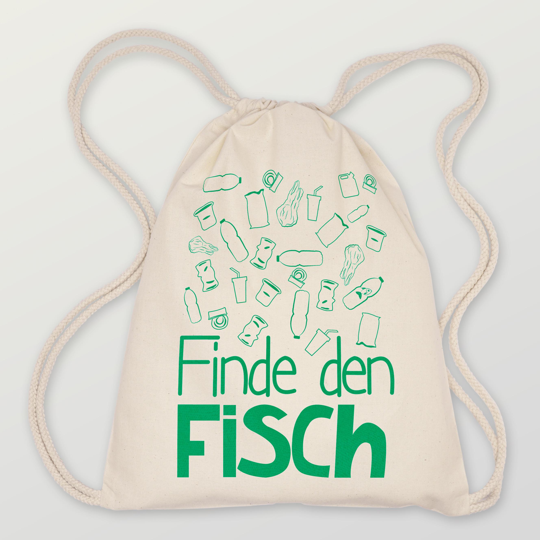 Turnbeutel Finde den Fisch