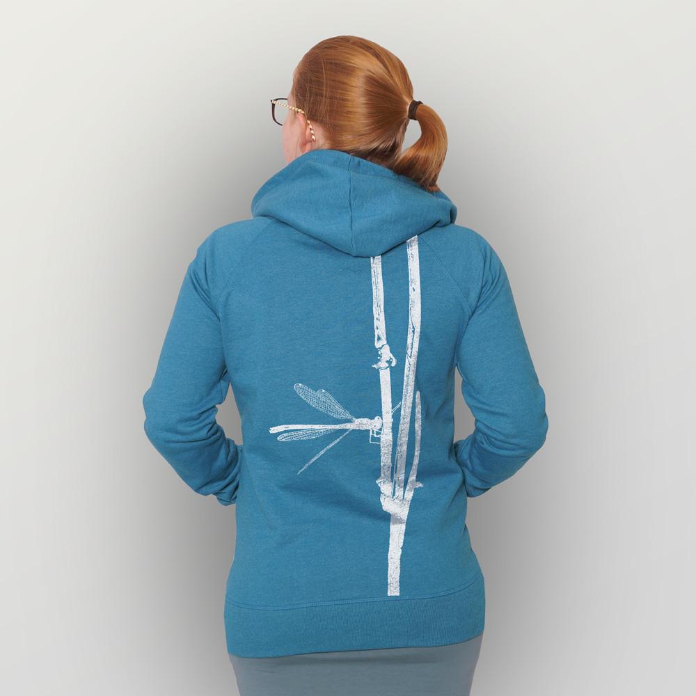 Unisex Zip-Hoody Frühe Adonislibelle