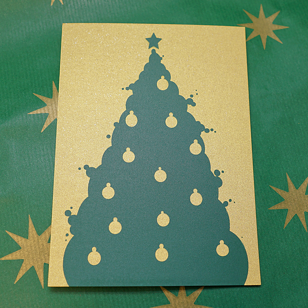 Weihnachtskarte Blubberbaum