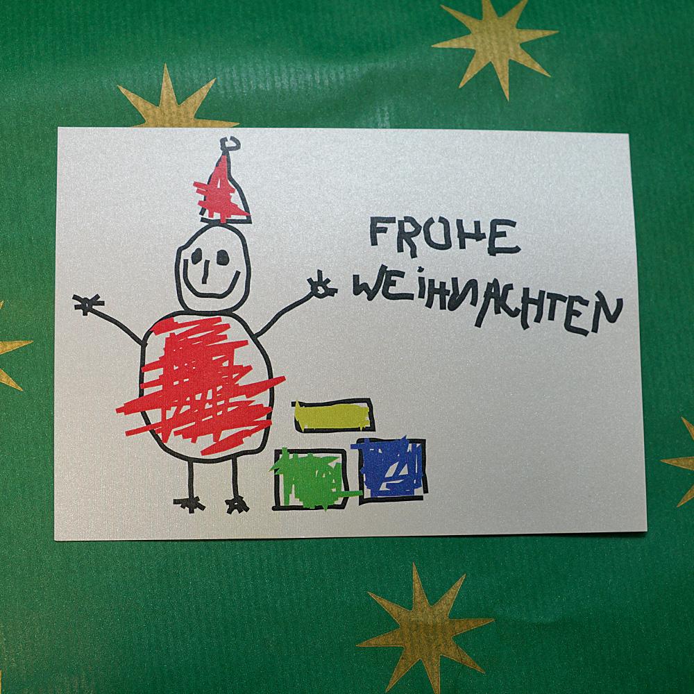 Weihnachtskarte Der glückliche Weihnachtsmann