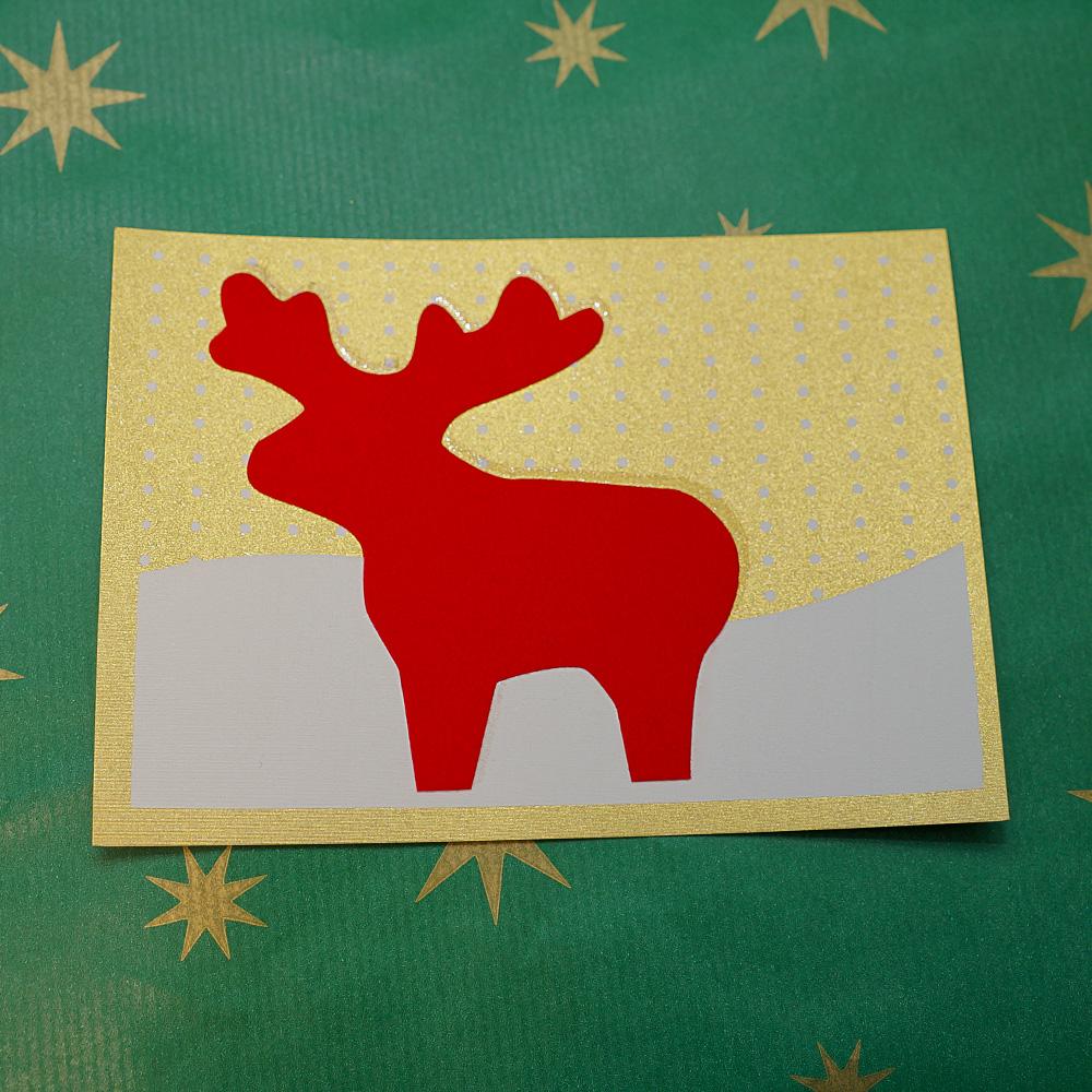 Weihnachtskarte Flauschelch