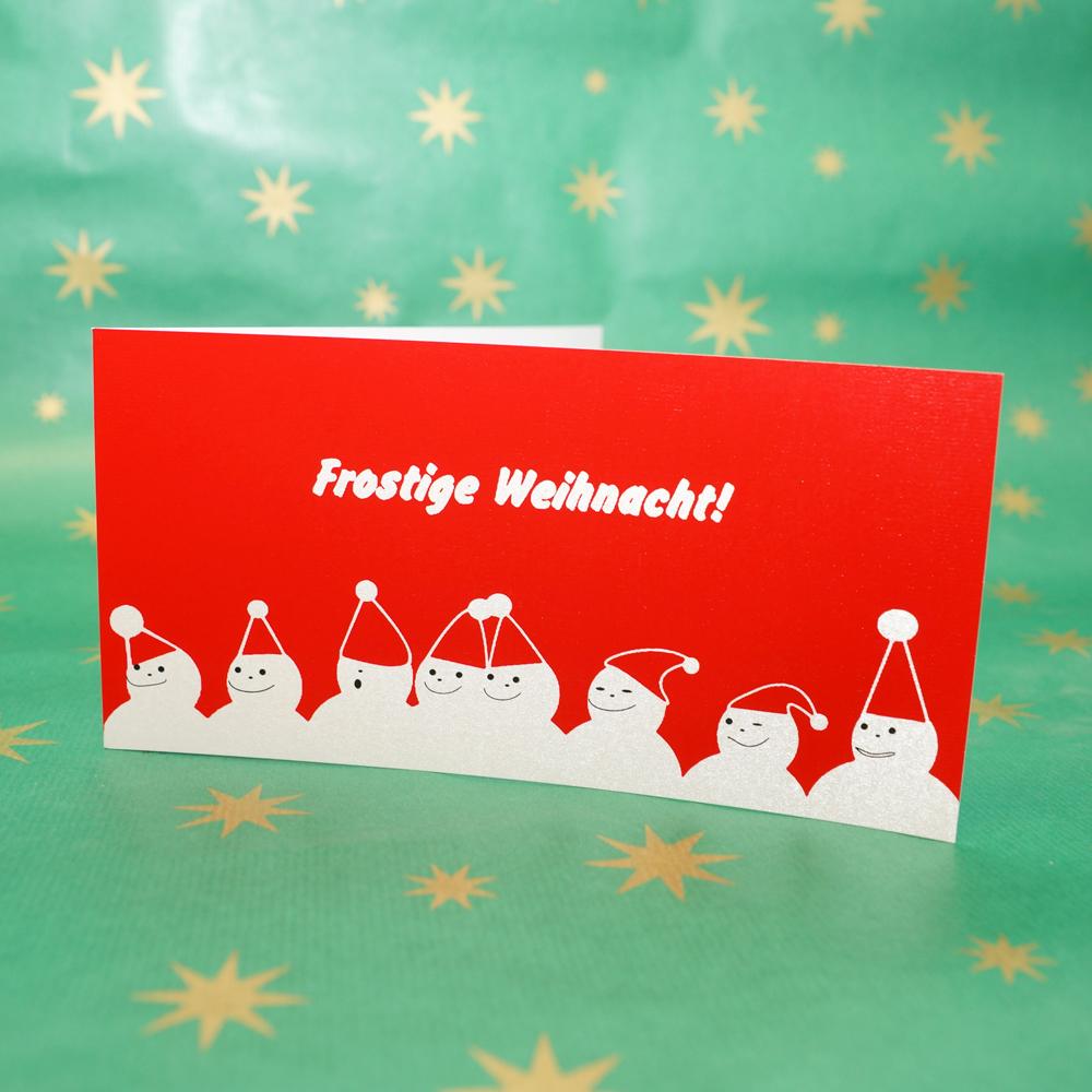 Weihnachtskarte Frostige Weihnacht