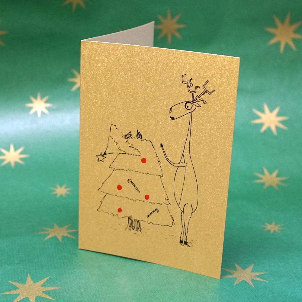 Weihnachtskarte Oh du Fröhliche ...