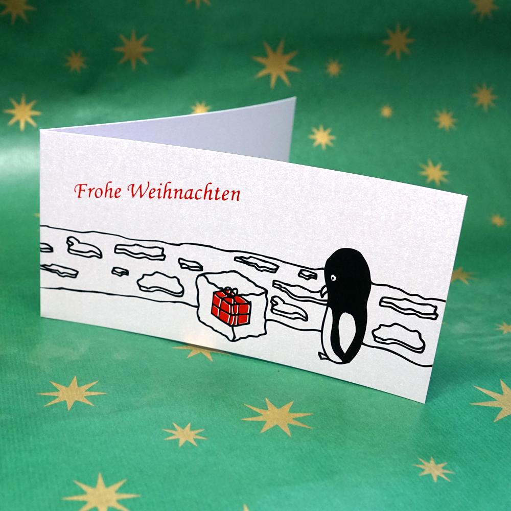 Weihnachtskarte Überraschungsei[s]